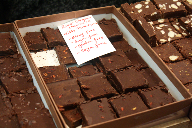 Raw chocolate at the Greenwich Market, Greenwich