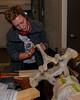 Iona doing detail work on vertebrae