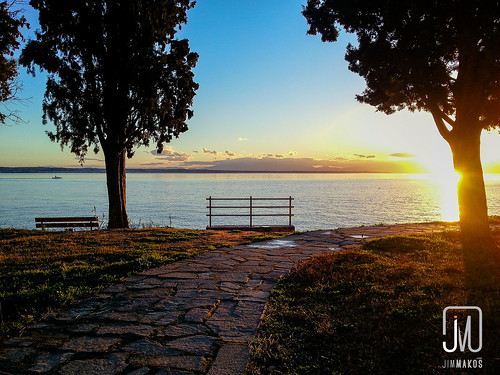 sunset sea landscape view greece thessaloniki kalamaria makedoniathraki