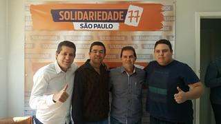 Vereador e morador de Buri visitam o Solidariedade