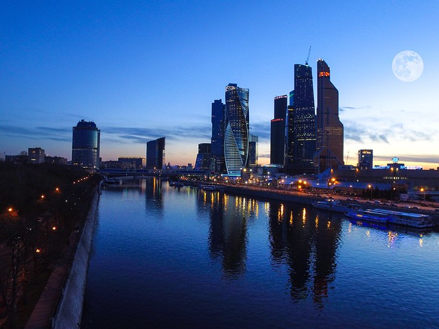 Evening in Moscow city