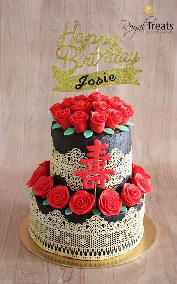 Reds & Golds Cake by Nice Sy - Lim of Royal Treats