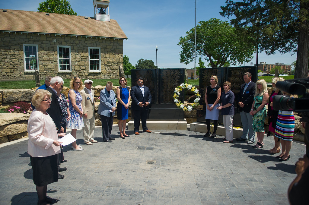 Re-Dedication ceremonies for Memorial to Fallen Educators - June 8, 2016