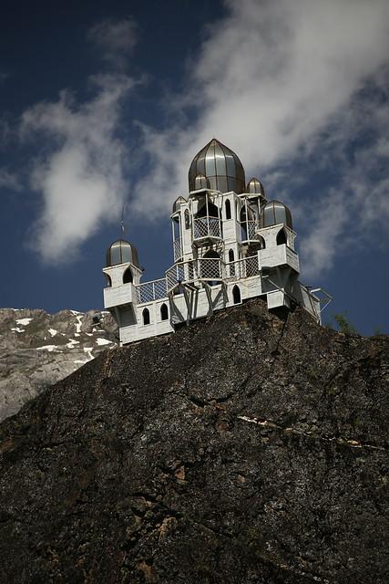 A precariously placed mosque