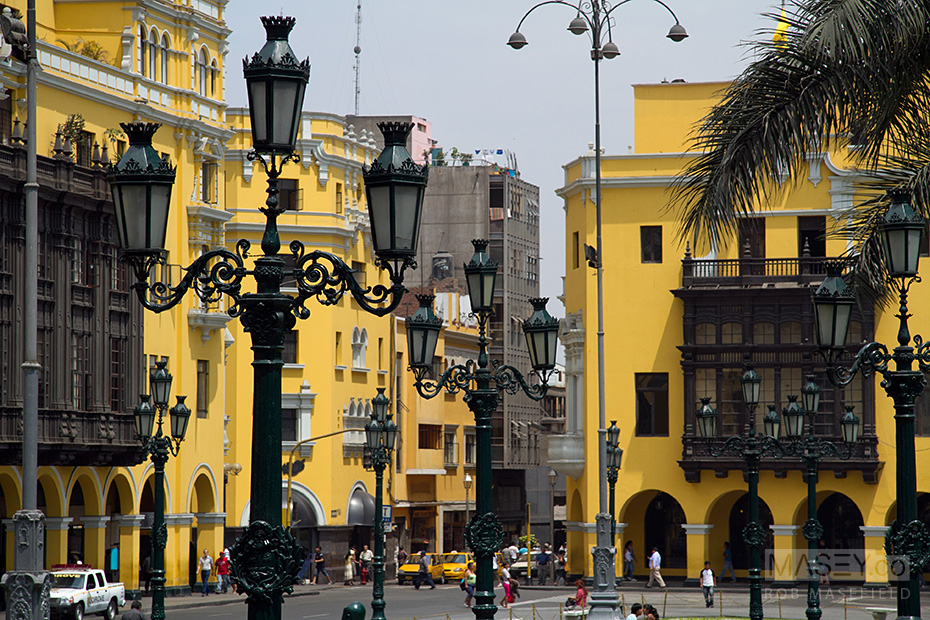The UNESCO World Heritage listed Plaza de Armas, Lima.