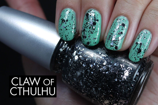 China Glaze Glitz N Pieces (over Essie Turquoise and Caicos)