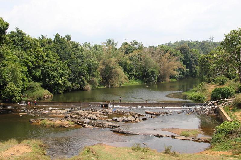 Dam across the river