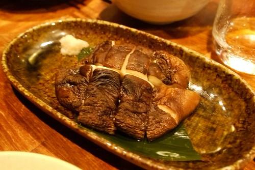 grilled mushroom - pungent mushroom flavor!