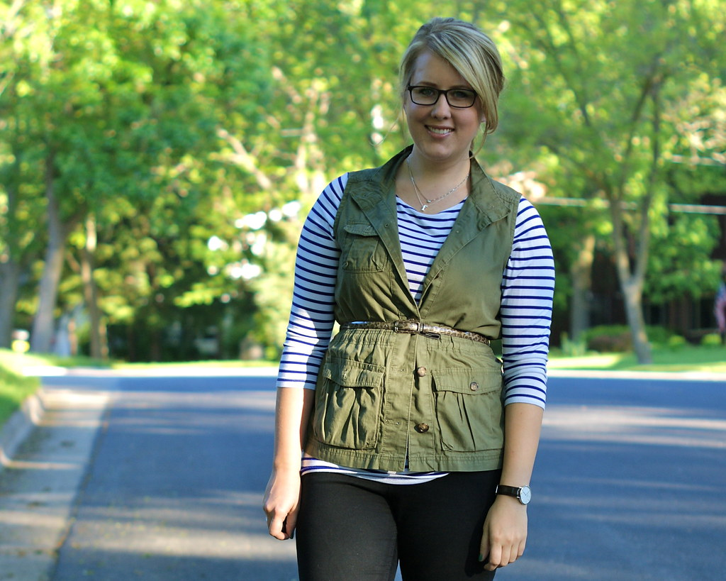vest + stripes