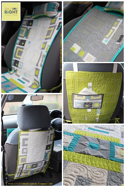 Make It Right Challenge- QUILTED REVERSIBLE Car Seat Pad - Amira Ameruddin