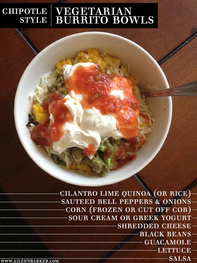 Chipotle Style Vegetarian Burrito Bowl
