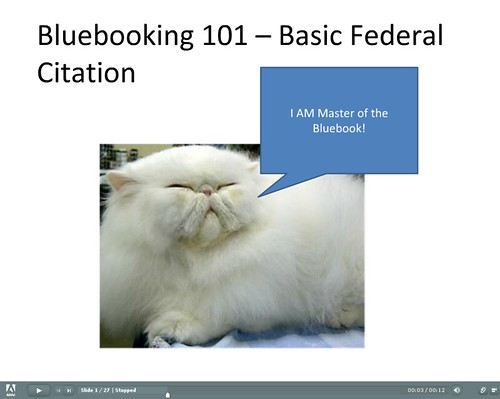 Federal Law Bluebook Citations
