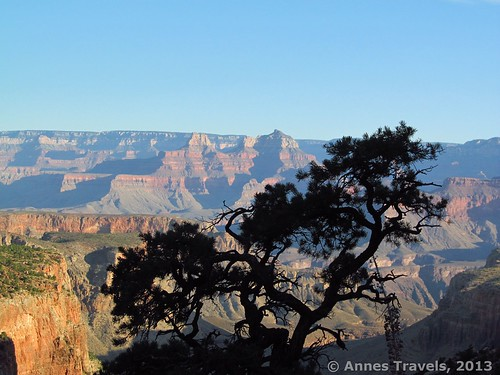 Early morning on the Grandview Trail in the Grand Canyon of Arizona