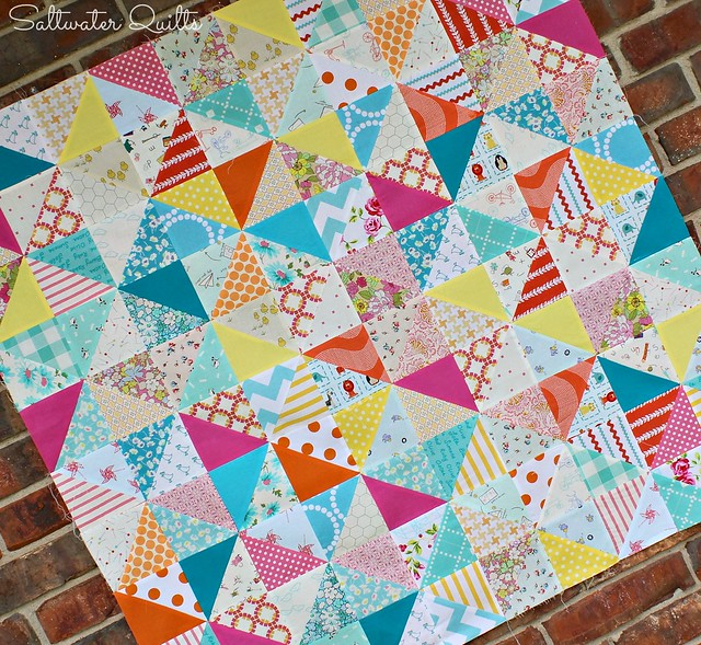 Happy Scrappy Baby Quilt Top