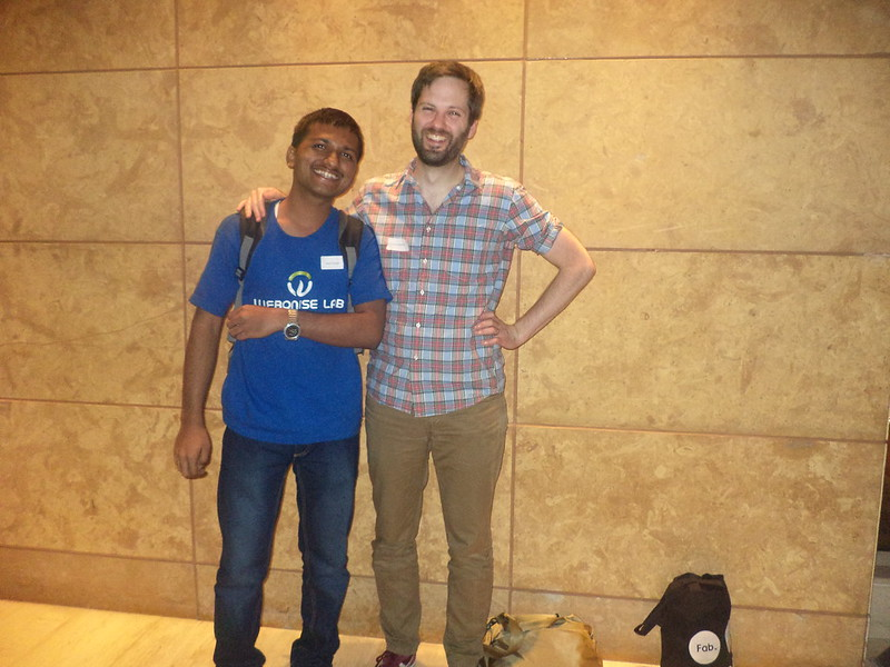 Photograph of me with Aaron Patterson (@tenderlove)