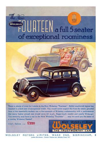 1935 Wolseley 14 ad