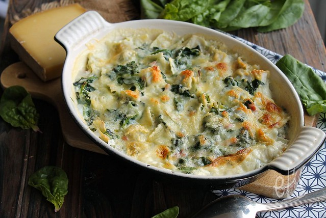 pasta pasta and spinach au gratin pasta with spinach au gratin spinach ...
