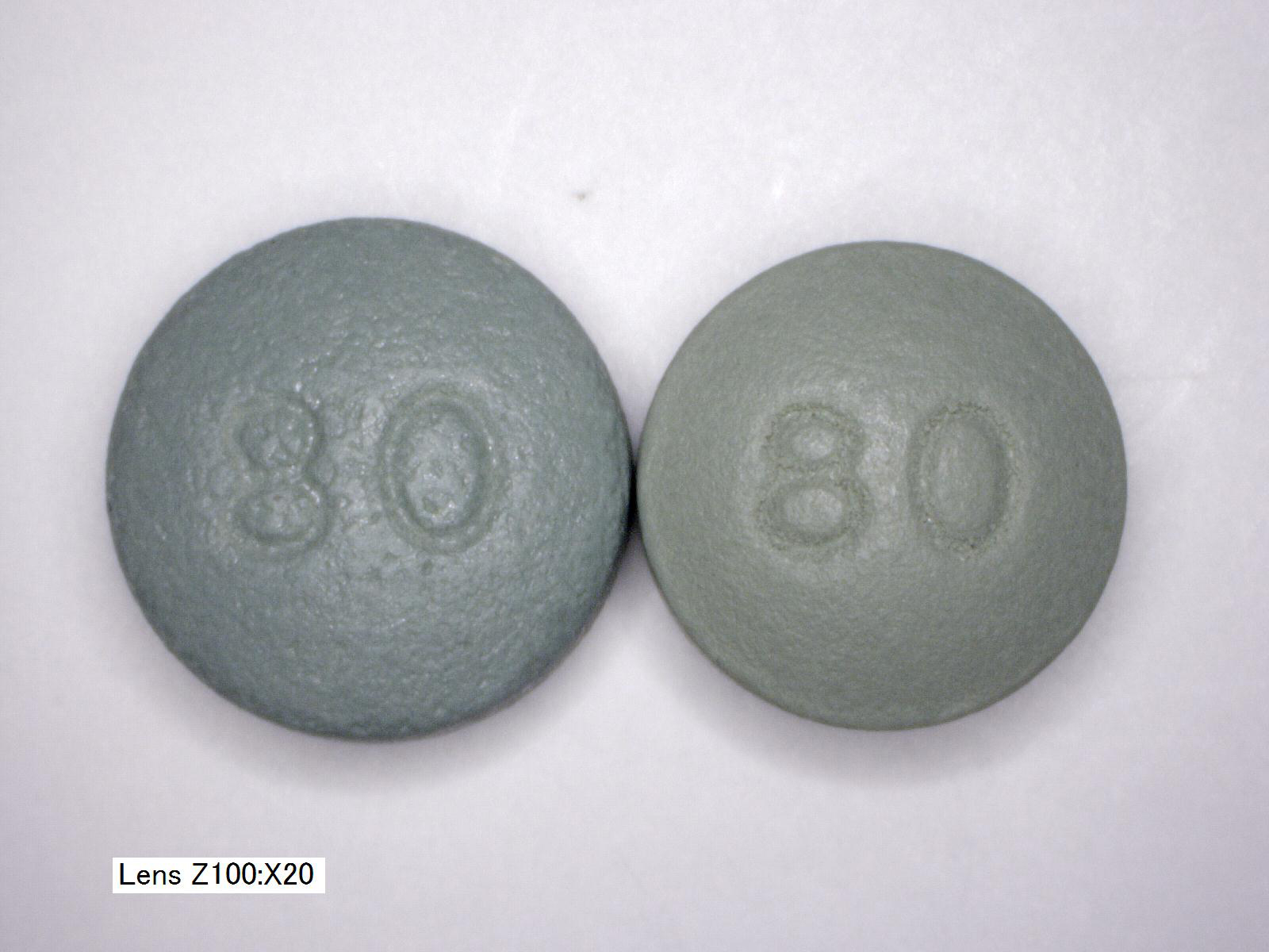 OxyContin OC vs OP 80mg back comparison