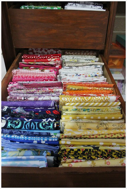 Drawer 2 _ Fabric stash_ fabric storage