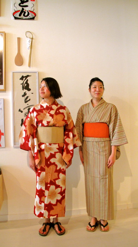 Kayoko and Yoko in their kimonos