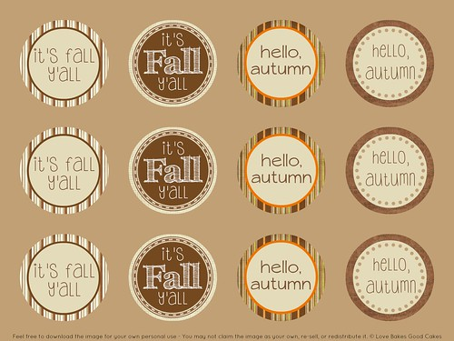Fall Cupcake Toppers 3