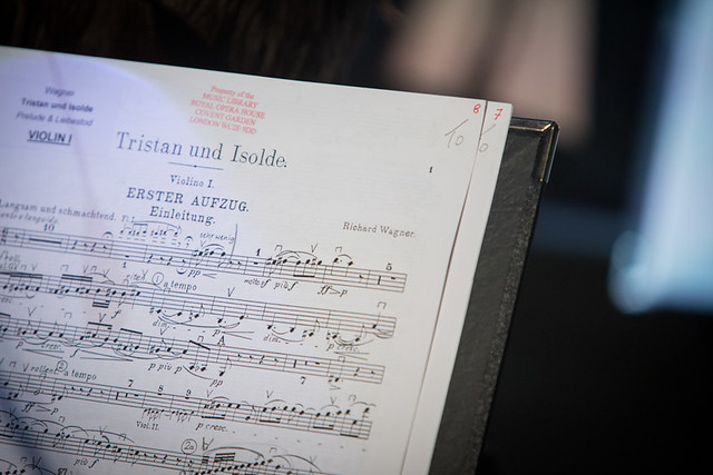 Tristan und Isolde score, The Verdi vs Wagner debate as part of Stephen Fry's Deloitte Ignite © Intelligence Squared