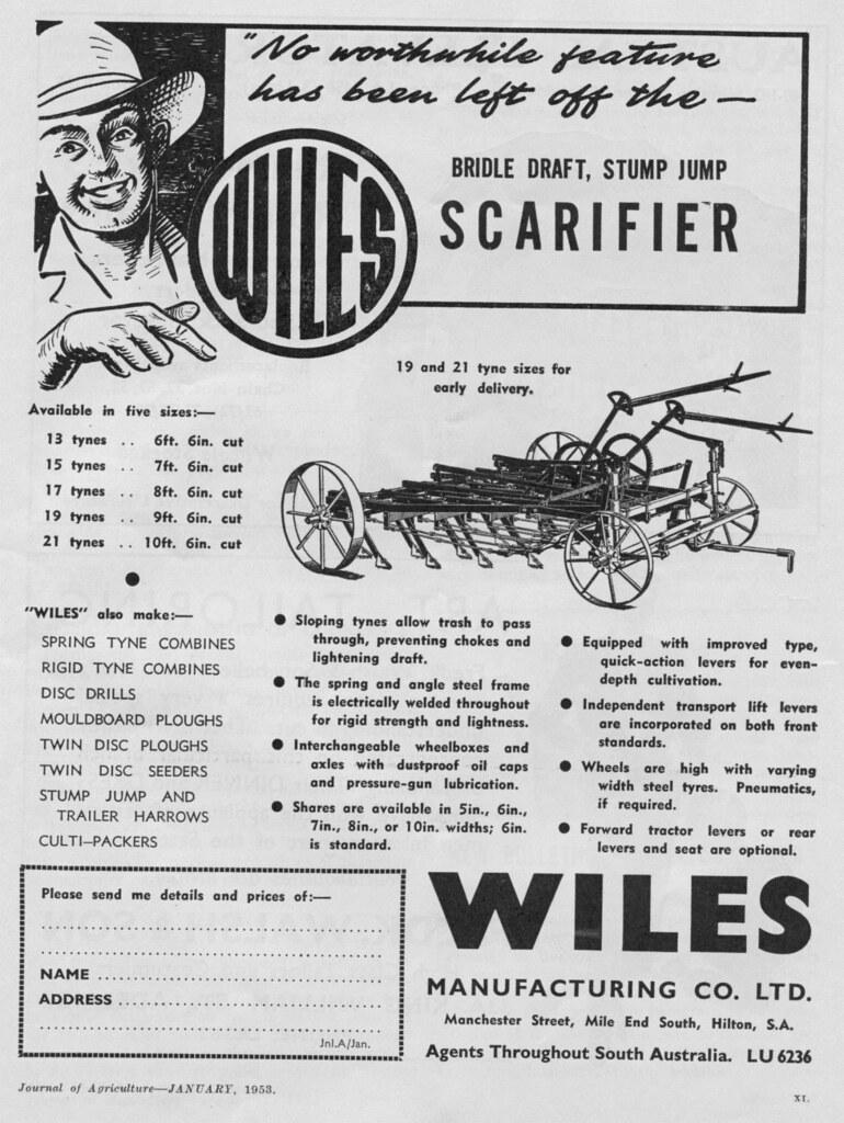 Wiles Scarifier 1953