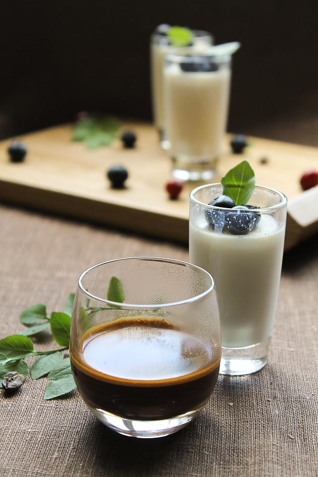 Espresso & Vanilla Panna Cotta