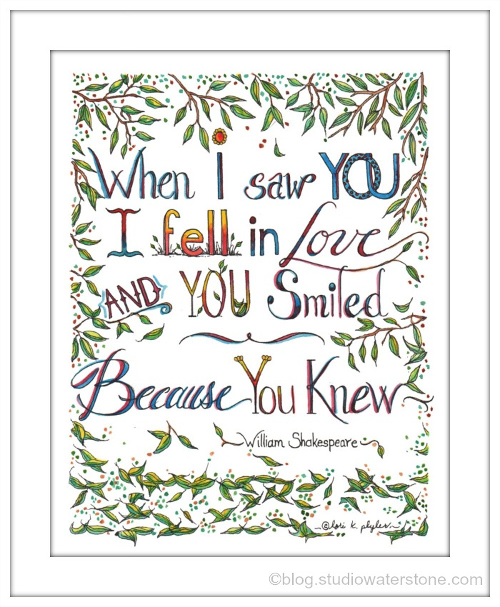 when i saw you art print