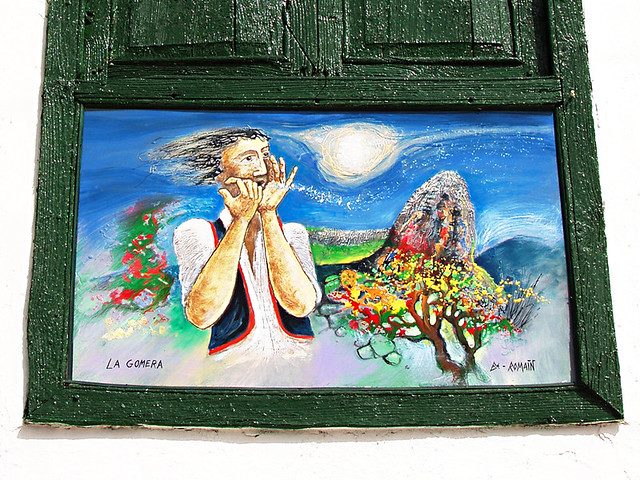 La Gomera Painting, Santiago del Teide, Tenerife