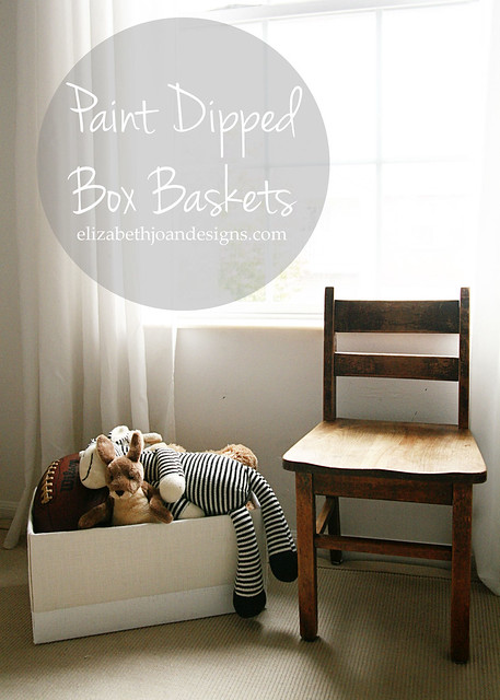 Paint Dipped Box Baskets 1