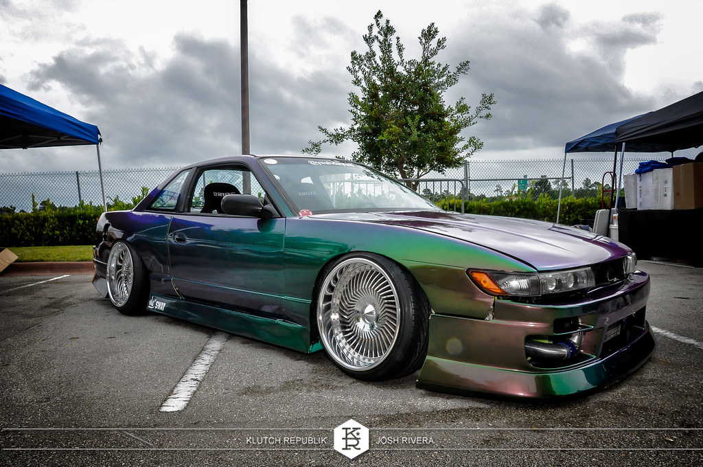 translucent green purple brown s14 silvia nissan drift missle seen at simply clean 5