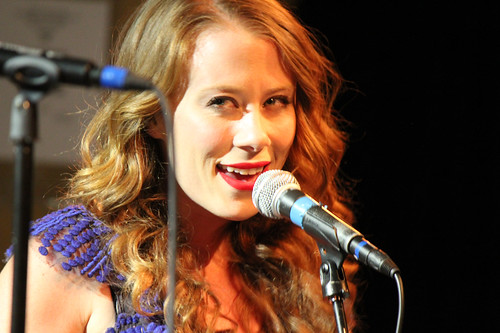 The Lone Bellow's Kanene Pipkin sings