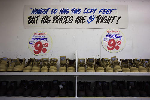Honest Ed's: Two Left Feet