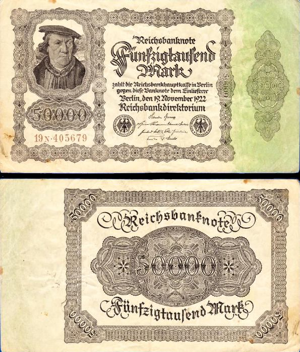 50 000 Mariek Nemecko 1922, Pick 79