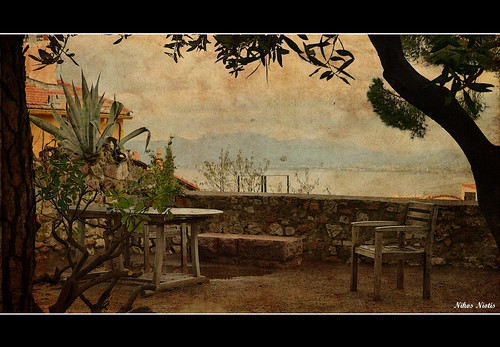 plants france tree nature french table landscape wooden chair europe european peace view place you cannes seat horizon