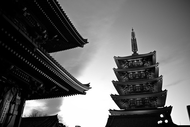 temple and pagoda, Canon EOS KISS X7, Tamron AF 17-50mm f/2.8 Di-II LD Aspherical