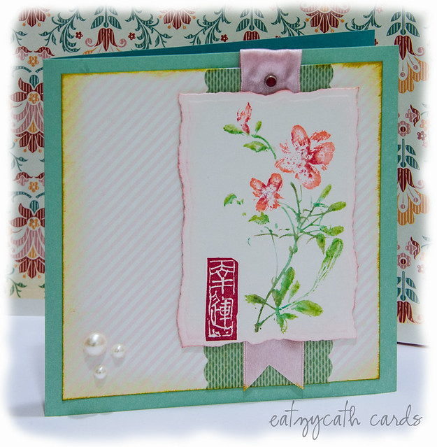 CNY card in pink and aqua