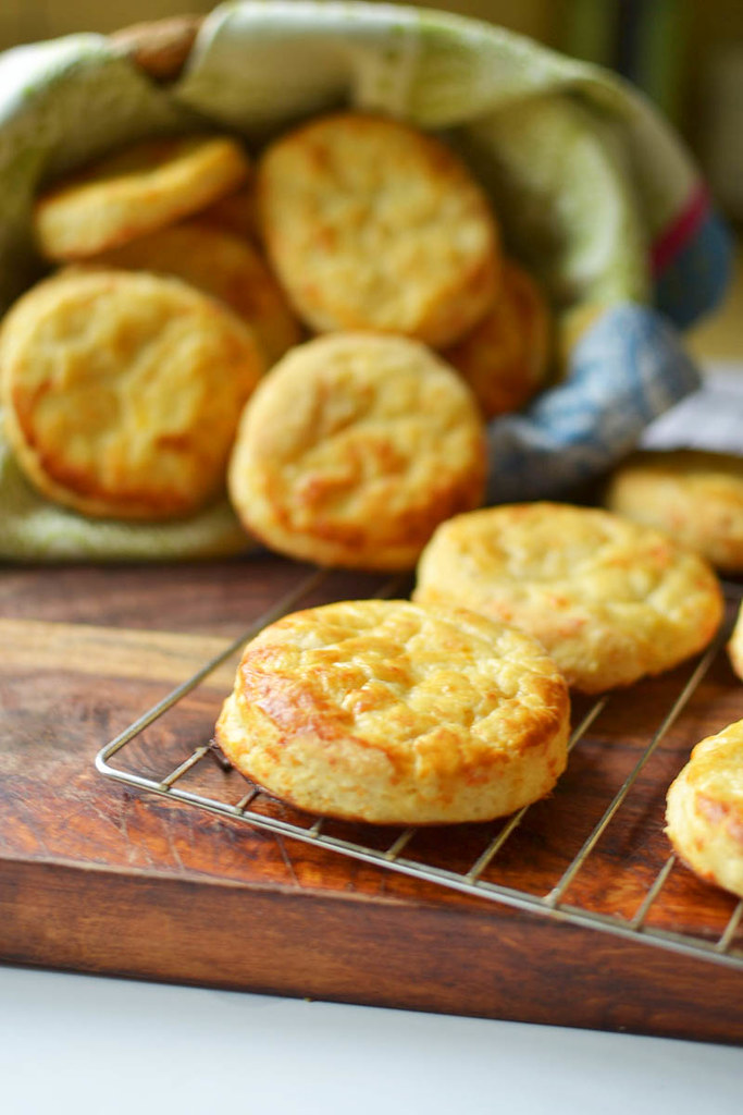 Buttermilk Cheddar Cheese Biscuits via LittleFerraroKitchen.com
