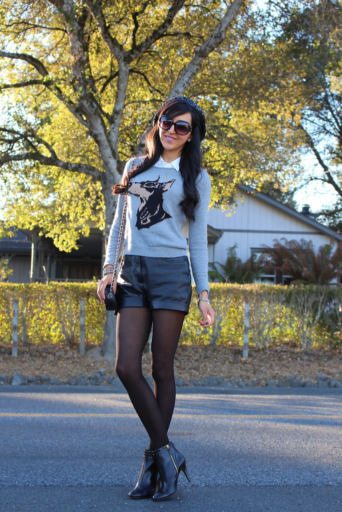 Leather Shorts, Sequin Beret 3