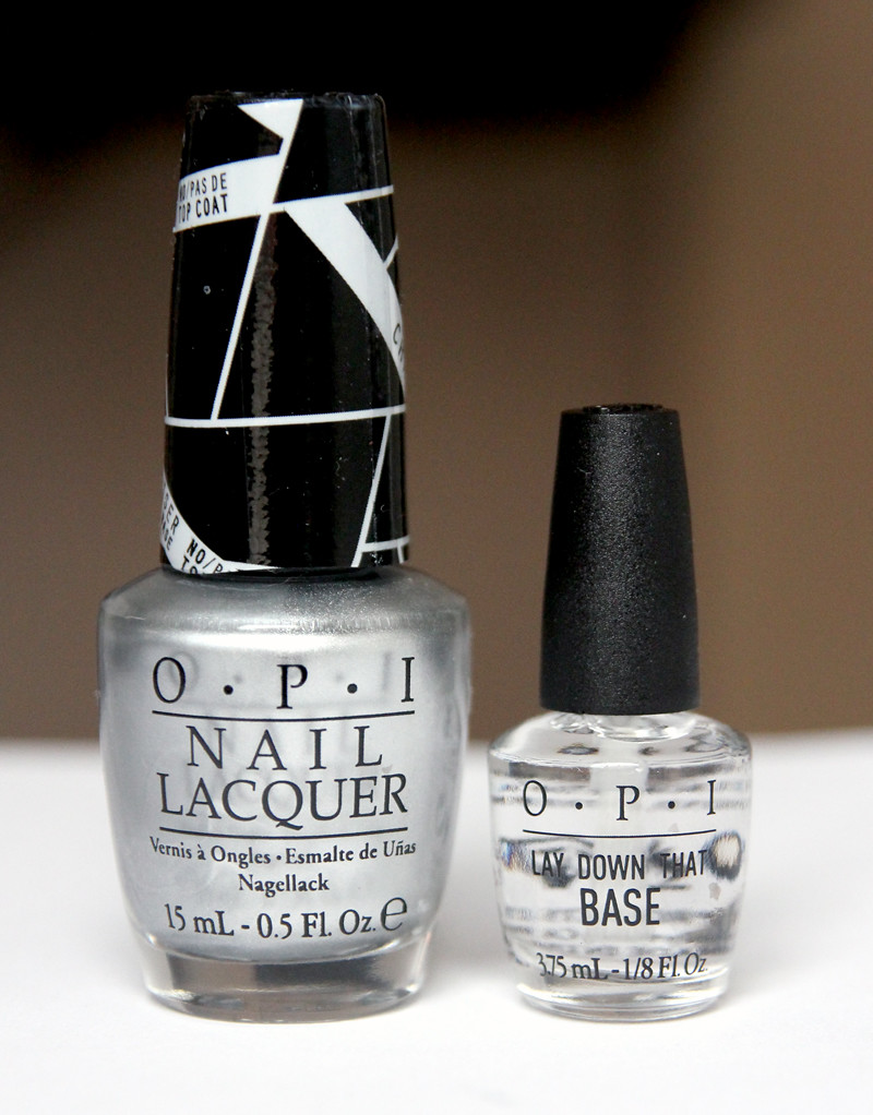 OPI push & shove + lay down that base