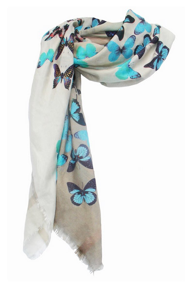 Butterflies Digital Square Scarf