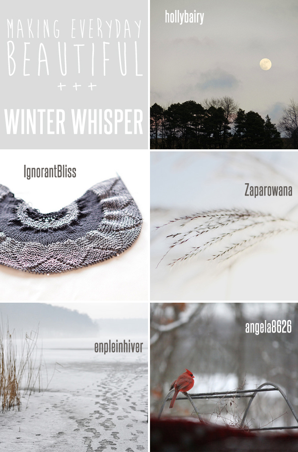 making everyday beautiful : winter whisper | Emma Lamb