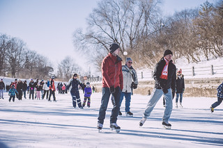 Skating on the canal