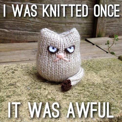 Grumpy Cat knitted