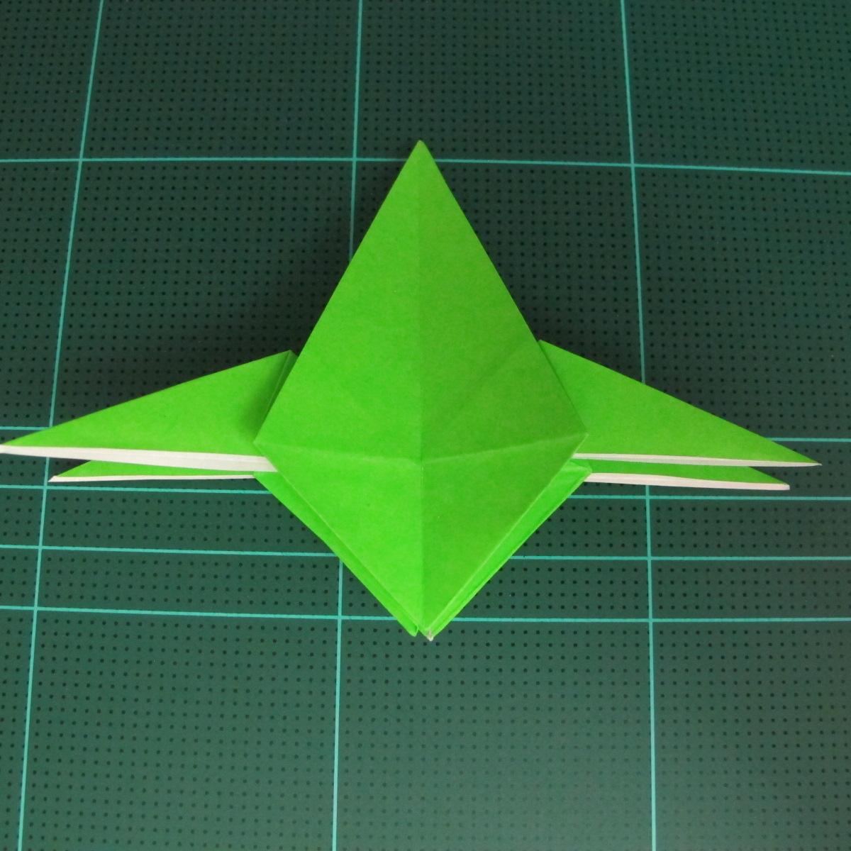 วิธีพับกระดาษเป็นจรวด X-WING สตาร์วอร์ (Origami X-WING) 025