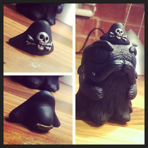Black BEARD with resin Pirate hat option. by [rich]