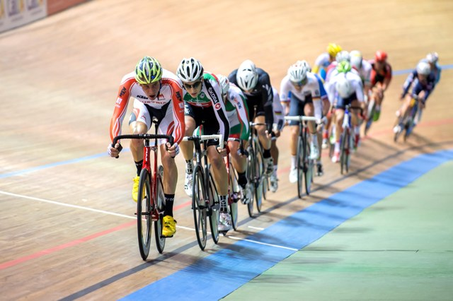 The afternoon session at the Velódromo Alcides Nieto Patiño in Cali, Colombia on Day 3 of the UCI Track Cycling World Championships
