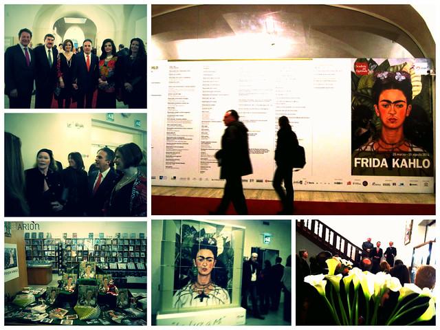 """Inauguracion de la  exposición de Frida Kahlo  en la """"Scuderie del Quirinale""""  de  Roma"""