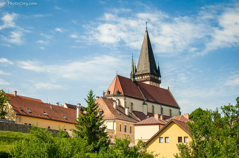 Church rooftop in Slovakia, Bardejov